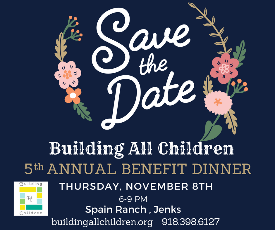 Save the Date Annual Benefit Dinner on November 8 2018
