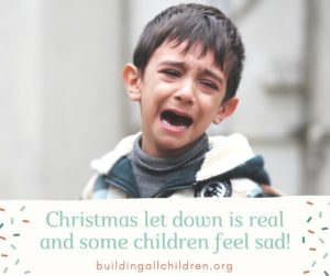 Does your child seem sad? The 'let down' is real….